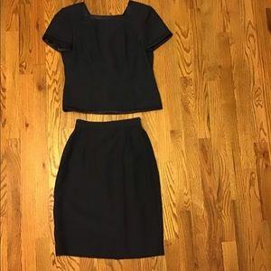 Talbots Petites Navy Blue 2-piece Dress size 2